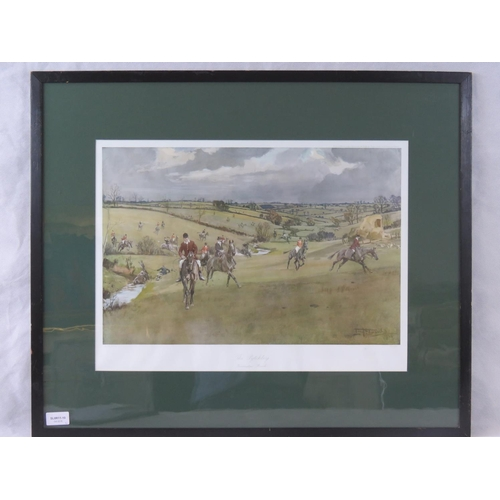 185 - Lionel Edwards colour print of ''The Pytchley- Braunston Brook'' sight size 38cm x 51cm....