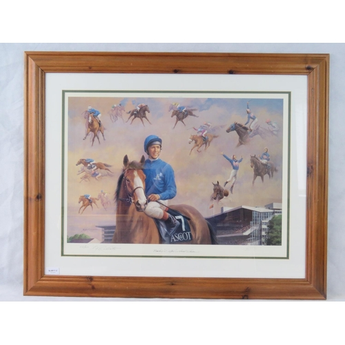 189 - B.R. Linklater limited edition print ''Frankie Dettori's Ascot Seven''; signed and numbered ''518/95...