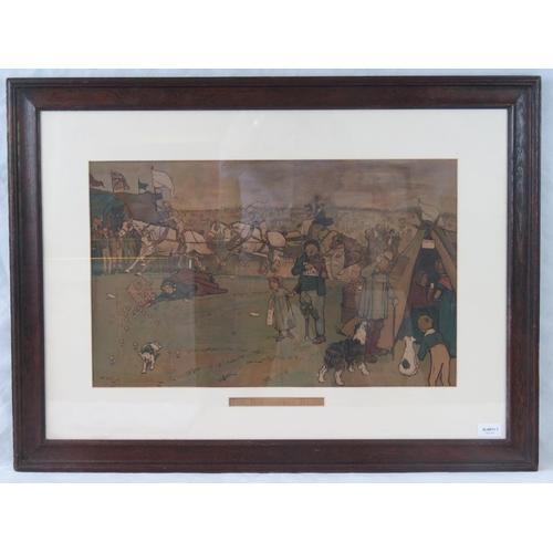 190 - Cecil Aldin ''Bluemarket Races'' print; sight size 37cm x 59cm....