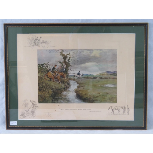 192 - Snaffles ''Great Banks there was below in the fields'' signed lower right in pencil; sight size 47cm...