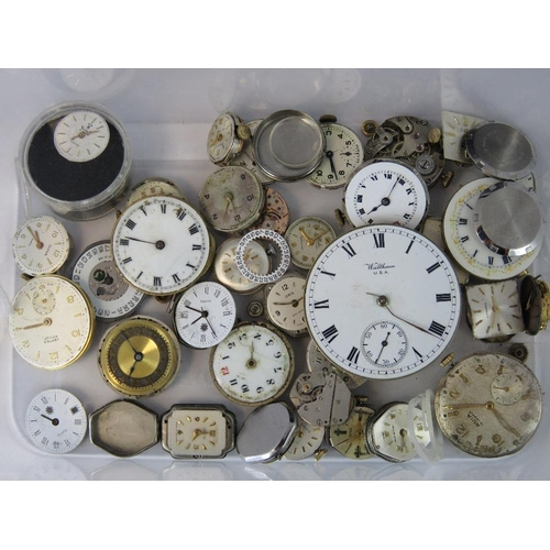 361 - A quantity of watch movements including Avia, Rotary, Baume Mercier, Smiths, Longines, Waltham etc....