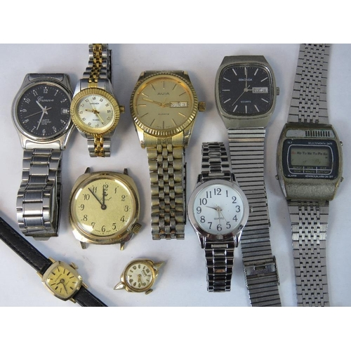 365 - Nine assorted watches to include three Sekonda, two Avia and a digital watch....