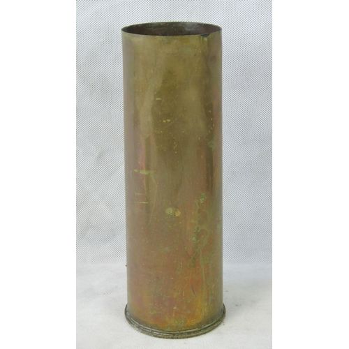 625 - A WWII No 345 Mark II ECC brass shell case stamped 1937 upon and standing 29cm high....