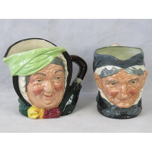 522 - Two Doulton large character jugs - Sairey Gamp and Granny, 15cm high....