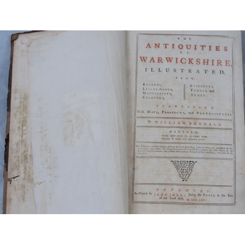 859 - William Dugdale ''The Antiquities if Warwickshire Illustrated'' third edition, 1765; a/f....