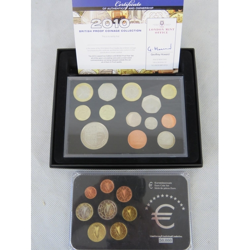 304 - London Mint, British proof coin collection 2010. Complete set with crown sized commemorative within ...