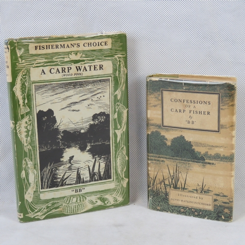 201 - Two 'BB' books with original dust jackets (a/f): 'Confessions of a Carp Fisher' and 'A Carp Water'....