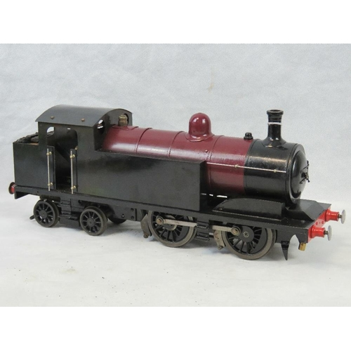 715 - An engineer-made 2 1/2 inch gauge live steam 4-4-0 locomotive complete with brakes and sprung buffer...