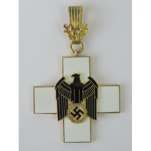 17 - A WWII German Grand Cross medal with black and white enamel....
