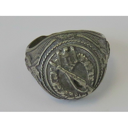 23 - A WWII German Infantry Assault ring....