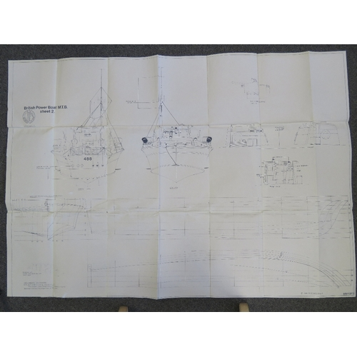 27 - Two Royal Navy MTB (Motor Torpedo Boat) detail plans; designed by John Pritchard copyright of Model ...