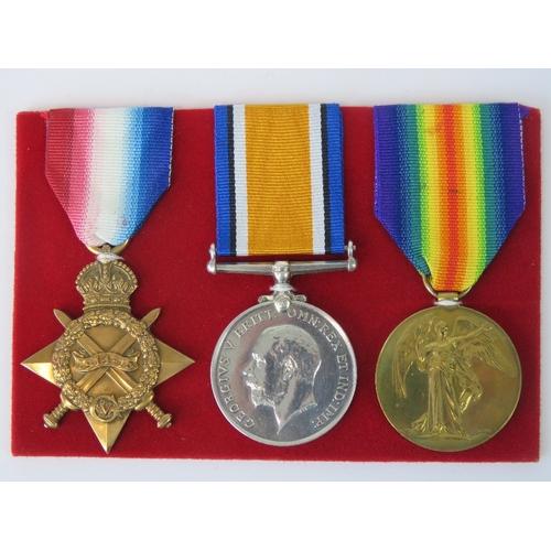 4 - A WWI medal trio for PTE H.W. Goddard R. Lanc. R. (16486) including 1914 - 1918 War medal, 1914 - 19...