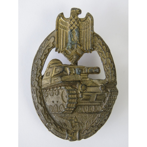40 - A WWII German Panzer badge, slight corrosion to front....
