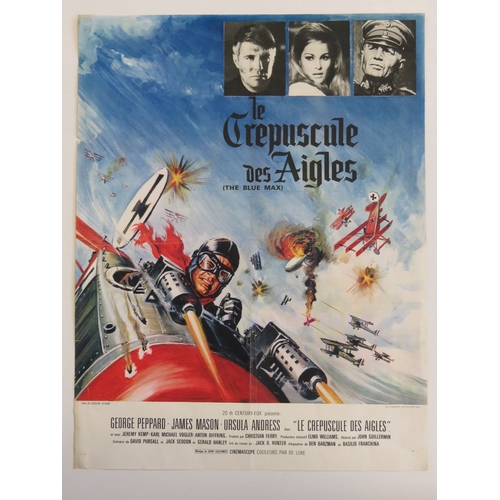 28 - ''The Blue Max'' - Original poster for the WWI-period film c1969; starring George Peppard, Ursula An...