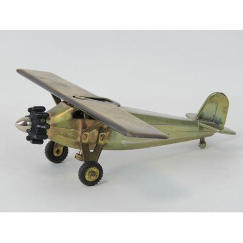 34 - Spirit of St Louis - Charles Lindbergh Transatlantic Flight c1920s; A desk-top cigarette-lighter mod...