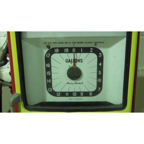 A vintage Avery Hardoll Petrol 101 pump in Shell livery with