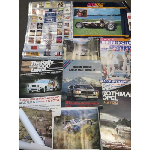 20 - A collection of motor sport posters including Indianapolis, Rally, etc....
