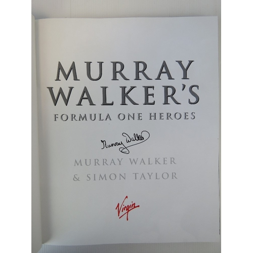 33 - Signed book; 'Nigel Mansell's Indy car Racing', published 1993. Together with 'Murray Walker's Formu...