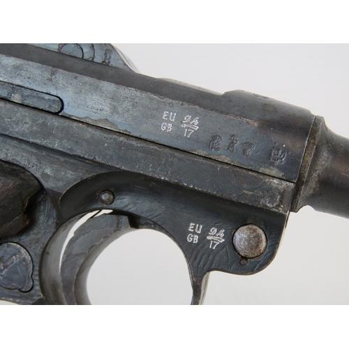 A deactivated (EU Spec) WWI German Luger PO8 Officers