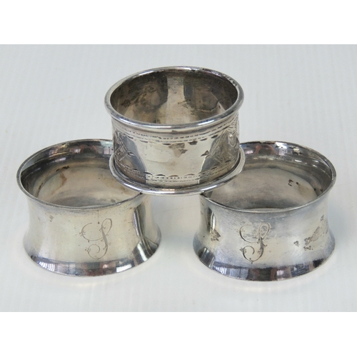 13 - A pair of HM silver napkin rings, hallmarked Sheffield 1917 with Atkin Bros - Harry Atkin makers mar...