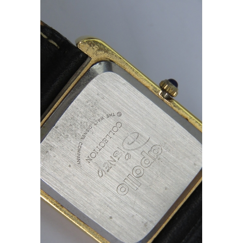 355 - A Walt Disney Company Mickey Mouse watch having Swiss quartz movement and leather strap....