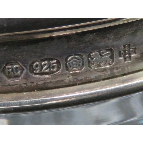 9 - A HM silver topper cut glass hair tidy, Sheffield 2000 hallmark....
