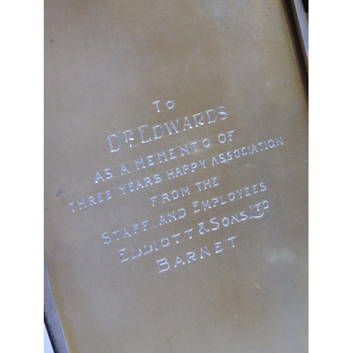 1 - A HM silver cigarette case having gilt interior with presentation engraving 'To Dr Edwards as a meme...