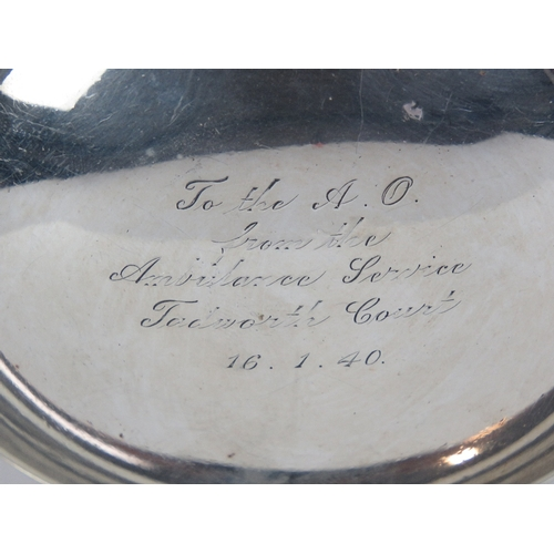 3 - A HM silver Quaich having presentation engraving ' To the A. O. from the Ambulance Service Tadworth ...
