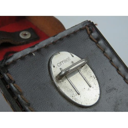 25 - A WWII German map case dated 1936 with Frost and Jahnel makers mark, Together with an Abney level / ...
