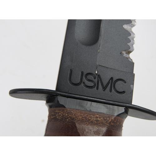 45 - A USMC (US Marine Corp)  KA BAR dagger with sheath.