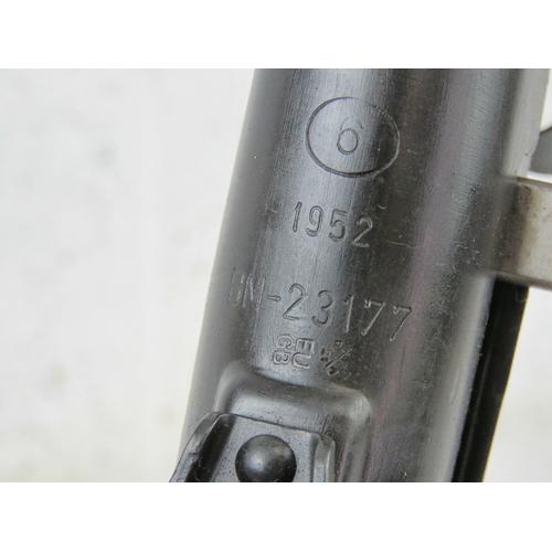 11 - A deactivated Polish PPS-43 7.62mm sub machine gun with moving dummy metal bolt (under spring pressu...