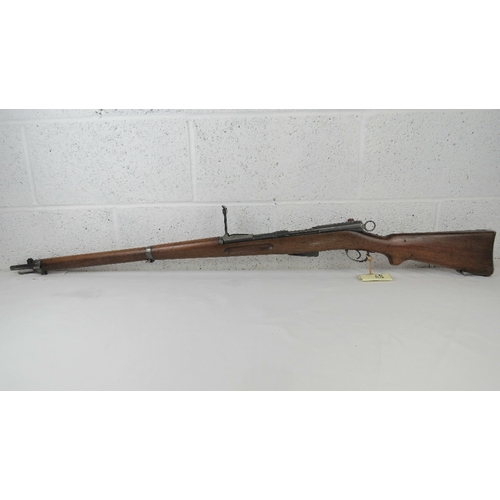 31 - A deactivated Swiss Schmidt-Rubin 7.5mm straight pull Rifle with matching numbers magazine, receiver...