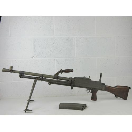 50 - A rare Italian Breda Bren gun set having all matching numbers; a deactivated Italian Breda Bren .30-...