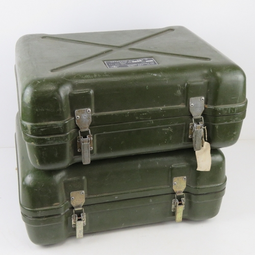 21 - Two British Military PD4-M detector kits in transit cases with accessories.