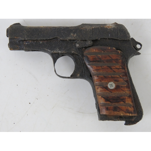 27 - A Beretta Model 34. This battlefield relic came from a collection and was found in Italy close to th...