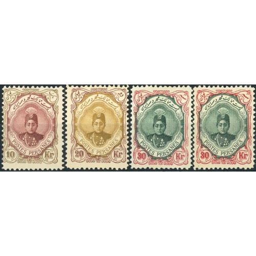 54 - 1911-13 THE THREE HIGH VALUES:1911-13 10kr, 20kr & 30kr four mounted mint examples of each value. Fi...