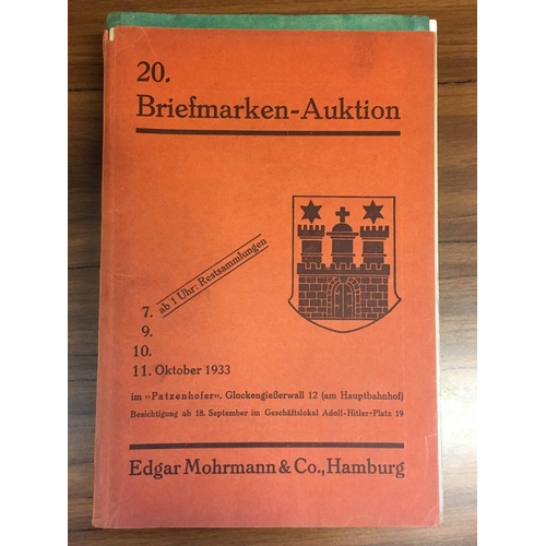 17 - EDGAR MOHRMANN & CO. , sale 20 1933. Text and plates. Also Hans Grobe, sale 17 (1927) text and plate...