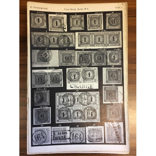 18 - ERNST STOCK, Berlin - sales 27 (1926), 31, 32, 33 (x2), 39, 40 (1929); only 31 & 39 with photo-plate...