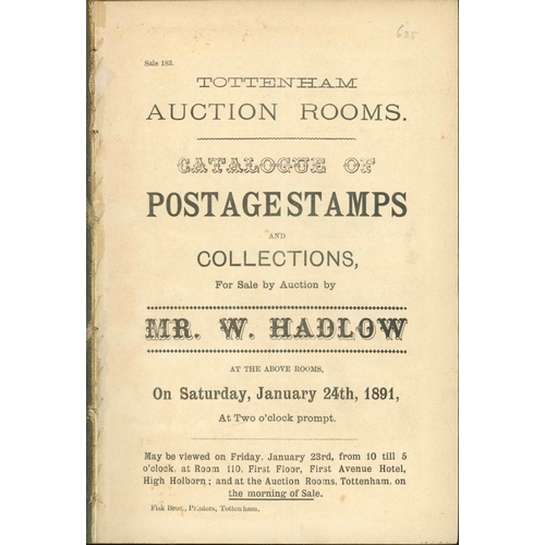 19 - WILLIAM HADLOW; A run of 33 sales (1891-95) disbound and without plates as issued from this importan...