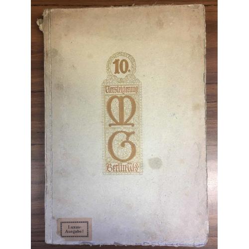22 - MARKEN- UND GANZSACHENHAUS of Berlin. Sale dated 22/27 November 1920. An early important sale, illus...
