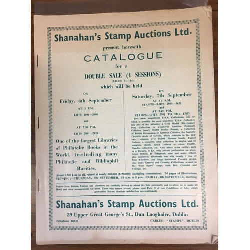 29 - SHANAHAN'S STAMP AUCTIONS LTD - 4 catalogues from sales 51-85. Elusive....