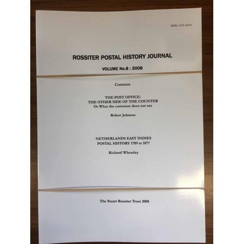 45 - ROSSITER POSTAL HISTORY JOURNAL vols. 1-8....