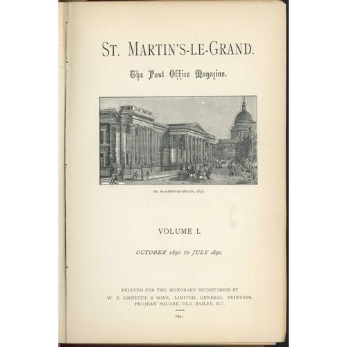 48 - ST MARTIN'S-LE-GRAND; Post Office Magazine a semi-complete run vols. 1-31 (1890-1921) and uniformall...