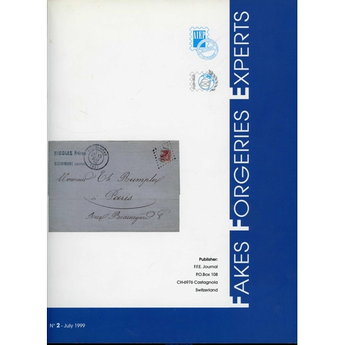 57 - FAKES, FORGERIES, EXPERTS (FFE) Nos. 2, 3, 4, 6 & 7 and mostly fine examples of this sought after  j...