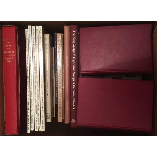 33 - BRITISH WEST INDIES STUDY CIRCLE BULLETIN, 1956-1987 (from number 8). Hardbound in 7 volumes, Red re...