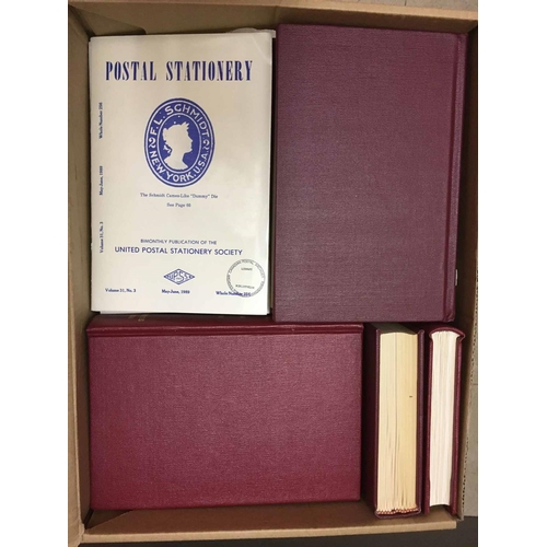 49 - POSTAL STATIONERY - the United Postal Stationery Society. 8 hardbound volumes between 11 (1968-69) -...