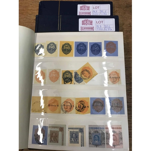 37 - A COLLECTION IN THREE STOCKBOOKS of letter seals and embossed cut outs from various countries. A str...