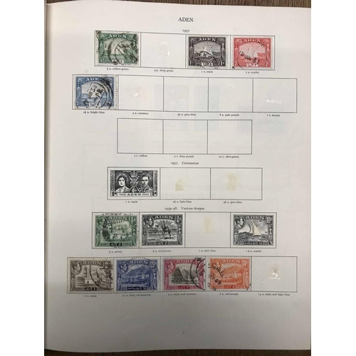 50 - SG PRINTED KGVI 'CROWN' ALBUM with a remaindered collection of used KGVI issues. Album itself is in ...