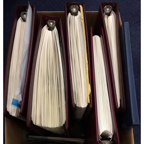 59 - CARTON - MOSTLY MODERN CANADA & NEW ZEALAND - in five binders, mint and used collection, sparse earl...