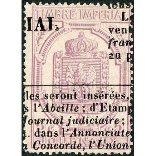 31 - 1868 NEWSPAPER - 5c MAUVE USED - good used example. SG J136 £800...